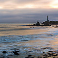 Last Light At Pigeon Point Lighthouse by Priya Ghose
