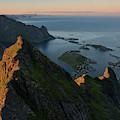 Last Light Illuminates Mountain Ridge by Cody Duncan