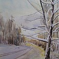 Last Winter Sunset Snow Scene by Martin Howard