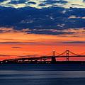 Late Evening Chesapeake Sunset by Doug Edmunds