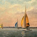 Late Finish  Featuring Dragons On The Medway by Vic Trevett