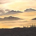 Late Sunset by Janet Hufnagle