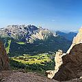 Latemar Mount From Vaiolon Pass by Antonio Scarpi