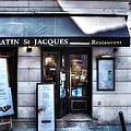 Latin St Jacques Paris France by Evie Carrier