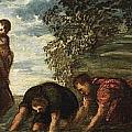 Latona Changing The Lycian Peasants Into Frogs by Tintoretto