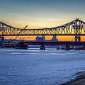 Latsch Sunset Bridge Spring by Kari Yearous