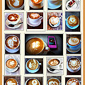 Latte Art Collage by Susan Garren