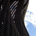 Lattice With Blue Sky And Clouds by Claire  Doherty
