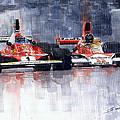 Lauda Vs Hunt Brazilian Gp 1976 by Yuriy Shevchuk