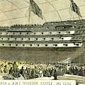 Launch Of Hms. Windsor Castle 140 Guns 1852 by English School