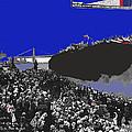 Launching Uss Arizona June 19 1915 Brooklyn Naval Yard Color Added 2013  by David Lee Guss