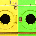 Laundromat Drying Machines Two 20130801a by Wingsdomain Art and Photography