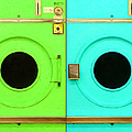 Laundromat Drying Machines Two 20130801b by Wingsdomain Art and Photography