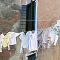 Laundry I Color Venice Italy by Sally Rockefeller