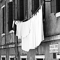 Laundry IIi Black And White Venice Italy by Sally Rockefeller