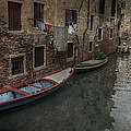 Laundry In Venice Canal by Carrie Kouri