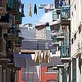 Laundry Ix Color Venice Italy by Sally Rockefeller