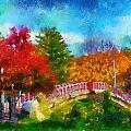 Laura Bradley Park 1922 Japanese Bridge 02 by Thomas Woolworth