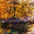 Laura Bradley Park Foot Bridge 02 by Thomas Woolworth