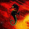 Lava Loving Seahorse by Ally  White