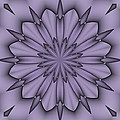 Lavender Abstract Flower by Lena Photo Art