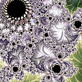 Lavender And Green Fractal Abstract  by Heidi Smith
