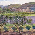 Lavender Seen Through Quince Trees by Timothy  Easton