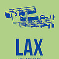 LAX Airport Poster 1 by Naxart Studio