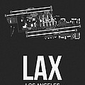 LAX Los Angeles Airport Poster 3 by Naxart Studio