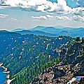 Layers Of Mountains From Watchman Overlook In Crater Lake National Park-oregon  by Ruth Hager