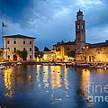 Lazise Harbor Night Scenic by George Oze