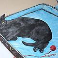 Lazy Black Cat by Jean Walker