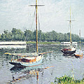 Le Bassin D'argenteuil by Gustave Caillebotte