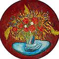 Le Bouquet Rouge - Original For Sale by Bernard RENOT