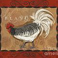 Le Coq Rooster Blanc by Shari Warren
