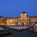 Le Louvre Palace Buildings And Pyramids by Philippe Widling