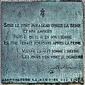 Le Pont Mirabeau by Olivier Le Queinec