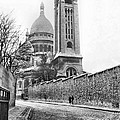 Le Sacre Coeur - B W by Chuck Staley