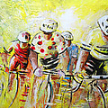 Le Tour De France 07 Acrylics by Miki De Goodaboom