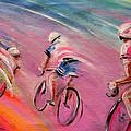 Le Tour De France 16 Acrylics by Miki De Goodaboom