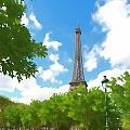 Le Tour Eiffel by Allan Van Gasbeck