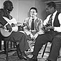 Leadbelly, Nicholas Ray, Josh White by Underwood Archives