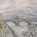 Leaden Winter In Golden Prague  by Victor Berelovich
