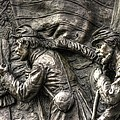 Leading The Way - State Of Delaware Monument Detail-j Gettysburg by Michael Mazaika