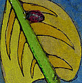 Leaf And Ladybug Series No. 3 by Cathy Peterson