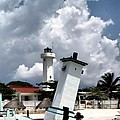Leaning Lighthouse Of Mexico by Farol Tomson