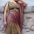 Leaning On The Balcony by John William Godward