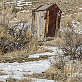Leaning Outhouse by Sue Smith