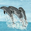 Leaping Dolphins by Tracey Williams