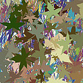 Leaves And Grass Abstract by Minding My  Visions by Adri and Ray